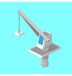 The loading crane of the port Isometric vector image