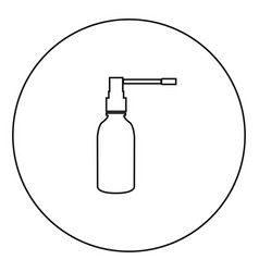 throat spray black icon in circle outline vector image