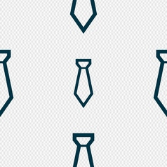 Tie icon sign Seamless pattern with geometric vector image