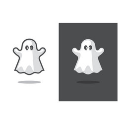cute ghost icon vector image vector image