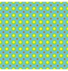 Flower and circle seamless pattern vector image vector image