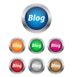 Blog buttons vector image