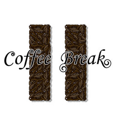 coffee break- drink vector image