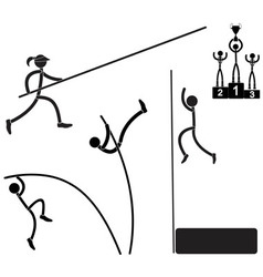 Pole vaults vector image
