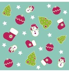 Seamless Christmas icons vector image