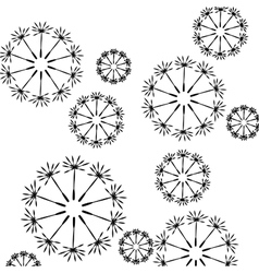 Seamless floral pattern of dandelion seeds vector image