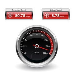 Speed Internet Test Icons vector image vector image