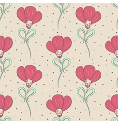 beige spring or summer seamless pattern vector image vector image
