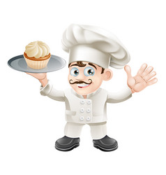 cake baker vector image vector image