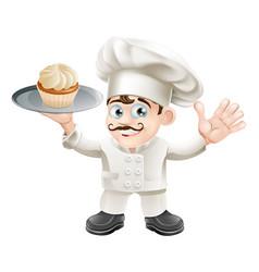 cake baker vector image