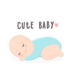 cute baby boy sleeping vector image