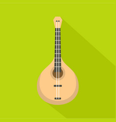 guitar icon flat style vector image vector image