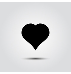 Heart icon in a flat style on white background vector image vector image