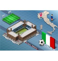 Isometric Stadium Marassi Genova Italy vector image vector image