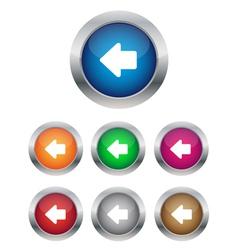 Left arrow buttons vector image