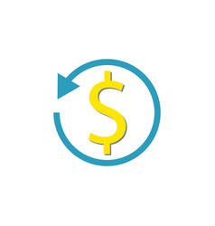 return on investment flat icon vector image
