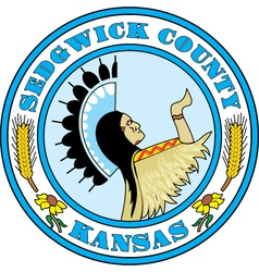 Sedgwick County Seal vector image vector image