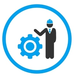 Engineer with gear icon vector