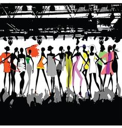Fashion show crowd vector