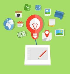 Modern web art technology concept vector image