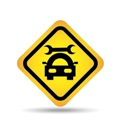 traffic sign concept icon car repair vector image