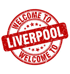 welcome to liverpool vector image