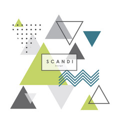 abstract geometric scandinavian pattern vector image