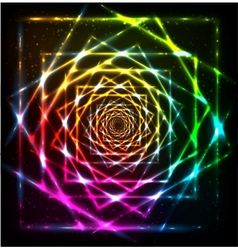 Abstract neon spiral background vector