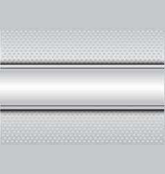 Abstract white steel banner circle mesh vecor vector