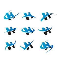 Alphabet H Logo Icons vector