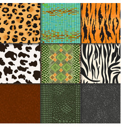 animal skins pattern seamless animalistic vector image