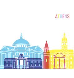 athens ga skyline pop vector image