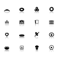 bakery and bread icons set vector image