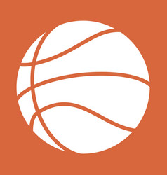 basketball abstract ball vector image