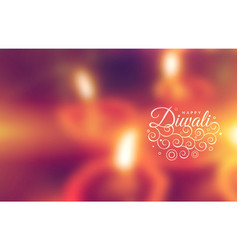 Beautiful happy diwali greeting wallpaper vector