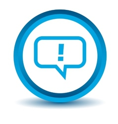 Blue answer icon vector