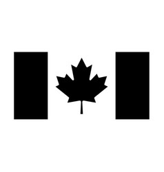 Canada flag black and white country national vector