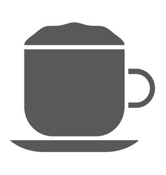 Cappuccino glyph icon coffee and cafe vector