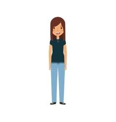 cartoon young woman vector image