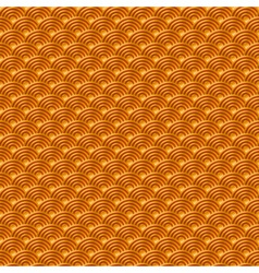 Chinese orange yellow gold seamless pattern dragon vector image