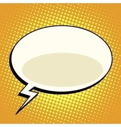 cloud comic bubble retro background for text vector image