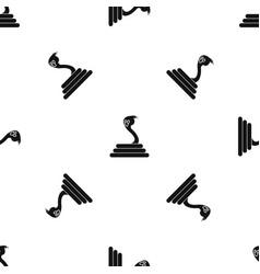 Cobra pattern seamless black vector