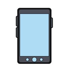 Colorful silhouette smartphone device icon vector