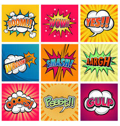 comic expression vector image