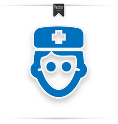 doctor icon blue on the white background vector image