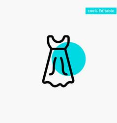dress girl wedding turquoise highlight circle vector image