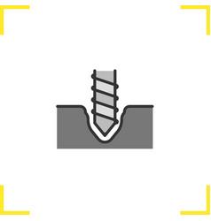 Drilling color icon vector