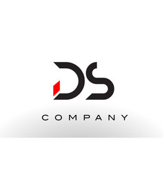 Ds logo letter design vector