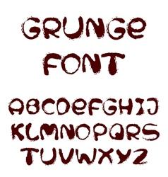 English alphabet in grunge style vector image