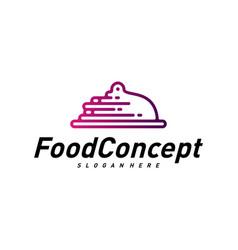 fast food logo concept cooking logo design vector image